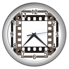 Frame Decorative Movie Cinema Wall Clocks (silver)  by Nexatart