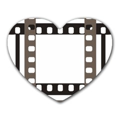 Frame Decorative Movie Cinema Heart Mousepads by Nexatart