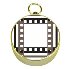 Frame Decorative Movie Cinema Gold Compasses by Nexatart