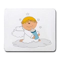 Angel Baby Bottle Cute Sweet Large Mousepads by Nexatart