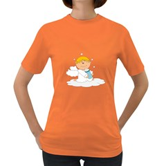 Angel Baby Bottle Cute Sweet Women s Dark T-shirt