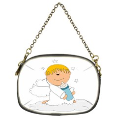 Angel Baby Bottle Cute Sweet Chain Purses (two Sides)  by Nexatart