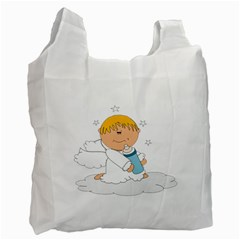Angel Baby Bottle Cute Sweet Recycle Bag (two Side)
