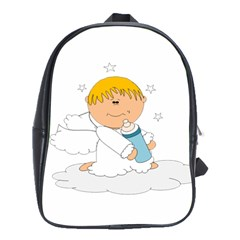 Angel Baby Bottle Cute Sweet School Bags(large)