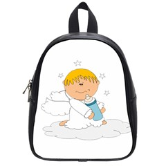 Angel Baby Bottle Cute Sweet School Bags (small)  by Nexatart