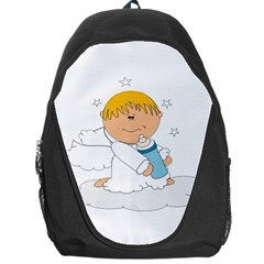 Angel Baby Bottle Cute Sweet Backpack Bag by Nexatart