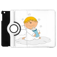 Angel Baby Bottle Cute Sweet Apple Ipad Mini Flip 360 Case by Nexatart