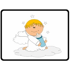 Angel Baby Bottle Cute Sweet Double Sided Fleece Blanket (large)  by Nexatart