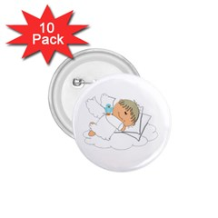 Sweet Dreams Angel Baby Cartoon 1 75  Buttons (10 Pack) by Nexatart