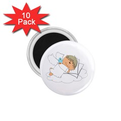 Sweet Dreams Angel Baby Cartoon 1 75  Magnets (10 Pack)  by Nexatart