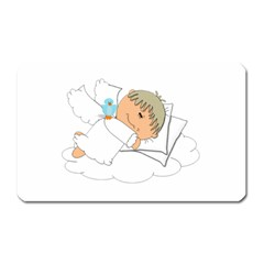 Sweet Dreams Angel Baby Cartoon Magnet (rectangular) by Nexatart