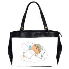 Sweet Dreams Angel Baby Cartoon Office Handbags (2 Sides)  by Nexatart
