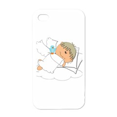 Sweet Dreams Angel Baby Cartoon Apple Iphone 4 Case (white) by Nexatart