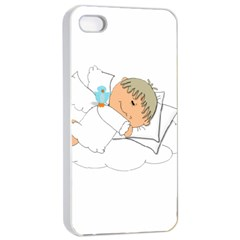 Sweet Dreams Angel Baby Cartoon Apple Iphone 4/4s Seamless Case (white) by Nexatart