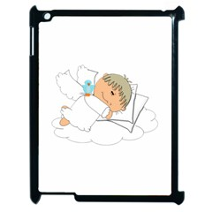 Sweet Dreams Angel Baby Cartoon Apple Ipad 2 Case (black) by Nexatart