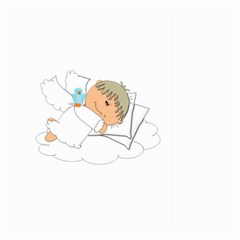 Sweet Dreams Angel Baby Cartoon Large Garden Flag (two Sides) by Nexatart