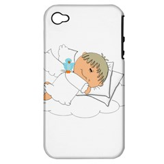 Sweet Dreams Angel Baby Cartoon Apple Iphone 4/4s Hardshell Case (pc+silicone)
