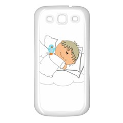 Sweet Dreams Angel Baby Cartoon Samsung Galaxy S3 Back Case (white)