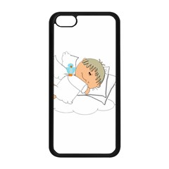 Sweet Dreams Angel Baby Cartoon Apple Iphone 5c Seamless Case (black) by Nexatart