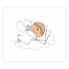 Sweet Dreams Angel Baby Cartoon Double Sided Flano Blanket (small)  by Nexatart
