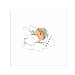 Sweet Dreams Angel Baby Cartoon Small Satin Scarf (square) by Nexatart