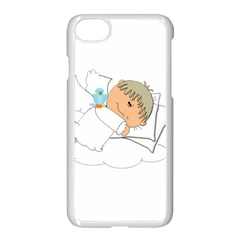 Sweet Dreams Angel Baby Cartoon Apple Iphone 7 Seamless Case (white)
