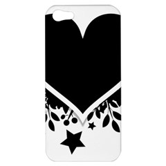 Silhouette Heart Black Design Apple Iphone 5 Hardshell Case