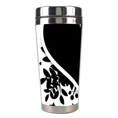 Silhouette Heart Black Design Stainless Steel Travel Tumblers