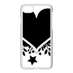 Silhouette Heart Black Design Apple Iphone 7 Seamless Case (white) by Nexatart