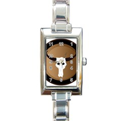 Logo The Cow Animals Rectangle Italian Charm Watch