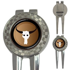 Logo The Cow Animals 3 In 1 Golf Divots by Nexatart