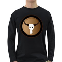 Logo The Cow Animals Long Sleeve Dark T Shirts