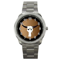 Logo The Cow Animals Sport Metal Watch