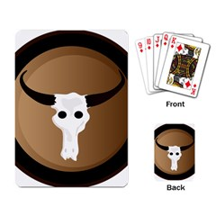 Logo The Cow Animals Playing Card