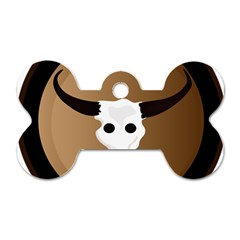 Logo The Cow Animals Dog Tag Bone (two Sides)
