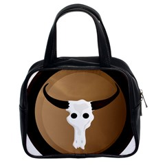 Logo The Cow Animals Classic Handbags (2 Sides) by Nexatart