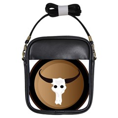 Logo The Cow Animals Girls Sling Bags by Nexatart