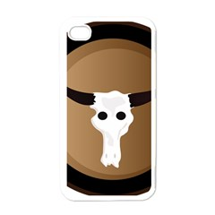 Logo The Cow Animals Apple Iphone 4 Case (white) by Nexatart