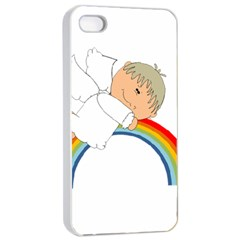 Angel Rainbow Cute Cartoon Angelic Apple Iphone 4/4s Seamless Case (white)