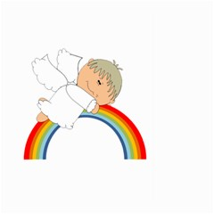 Angel Rainbow Cute Cartoon Angelic Large Garden Flag (two Sides) by Nexatart
