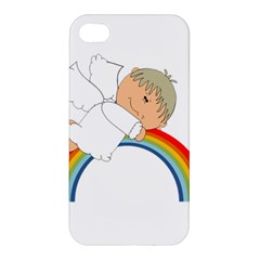 Angel Rainbow Cute Cartoon Angelic Apple Iphone 4/4s Premium Hardshell Case