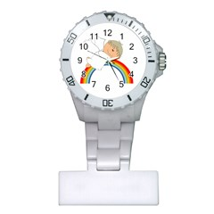Angel Rainbow Cute Cartoon Angelic Plastic Nurses Watch by Nexatart