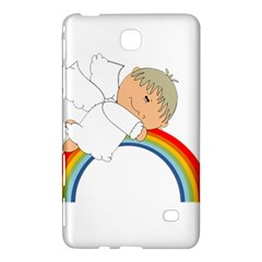 Angel Rainbow Cute Cartoon Angelic Samsung Galaxy Tab 4 (7 ) Hardshell Case  by Nexatart