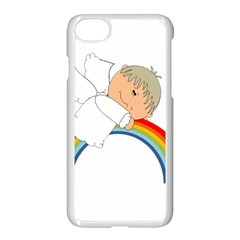 Angel Rainbow Cute Cartoon Angelic Apple Iphone 7 Seamless Case (white) by Nexatart