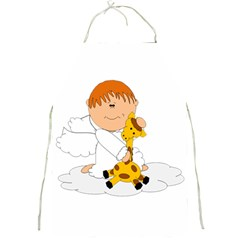 Pet Giraffe Angel Cute Boy Full Print Aprons