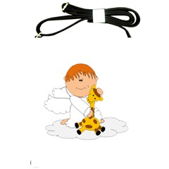 Pet Giraffe Angel Cute Boy Shoulder Sling Bags by Nexatart