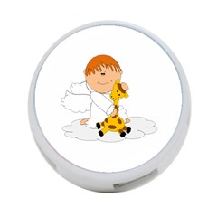 Pet Giraffe Angel Cute Boy 4 Port Usb Hub (two Sides)  by Nexatart