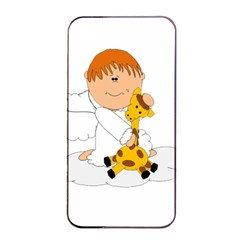 Pet Giraffe Angel Cute Boy Apple Iphone 4/4s Seamless Case (black) by Nexatart