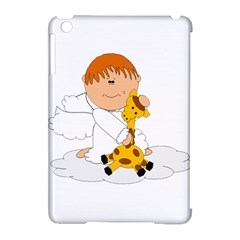 Pet Giraffe Angel Cute Boy Apple Ipad Mini Hardshell Case (compatible With Smart Cover) by Nexatart