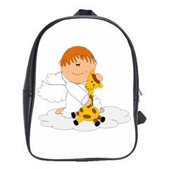 Pet Giraffe Angel Cute Boy School Bags (xl)
